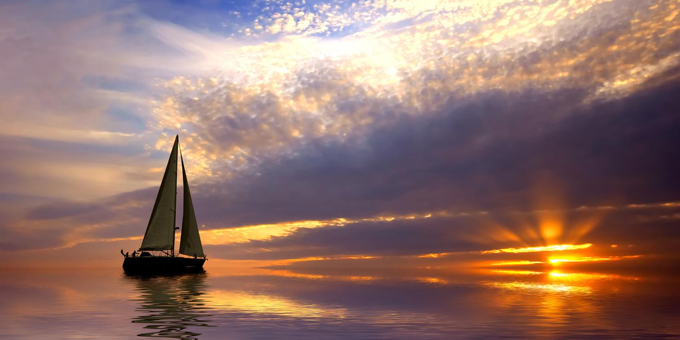 vela tramonto